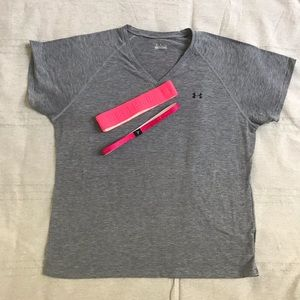 Under Armour workout T (XL) and headband